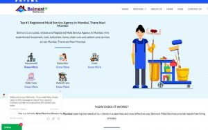 Belmont Maid Services, domestic help website design and development