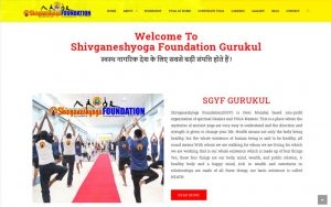 SGYF Gurukul, yoga website design and development